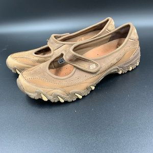 SKECHERS Brown Leather Mary Jane. Women's Size 7.